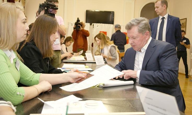 Олег Белавенцев проголосовал на выборах Президента Российской Федерации